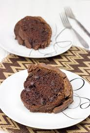 by chocolate cake with fudge icing