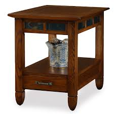 rustic wedge end table wedge chairside table with drawer things mag sofa chair