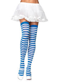 green and purple striped witch child costume striped stockings