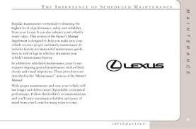 lexus rx 350 maintenance schedule 2004 lexus rx330 maintenance schedule pdf manual 47 pages