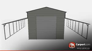 top quality ridgeline style metal barn garage carport com metal