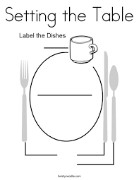 setting the table book setting the table coloring page twisty noodle