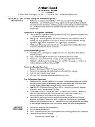 Security Guard Resume Example by Personal Protection Detail Resume Sample Infantry Platoon