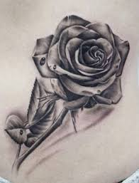 28 best realistic rose tattoo with thorn images on pinterest