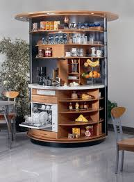 revolving circle compact kitchen idesignarch interior design