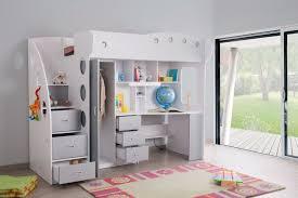 lit enfant mezzanine bureau lit mezzanine combi combiné bureau penderie blanche et grise