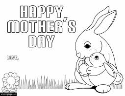 happy mothers mother bunny rabbit baby bunny rabbit