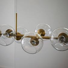 Hanging Chandelier Light Fixture Staggered Glass Chandelier 12 Light West Elm