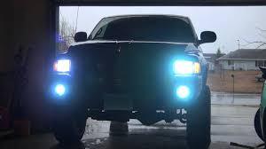 99 dodge ram led lights lifted dodge ram 8000k hid s high low fog lights on at same