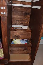 Ana White Build A Side Street Bunk Beds Free And Easy Diy by Ana White Bunkbed With Bookshelves Stairs And Storage Bins