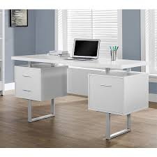 Modern Desks With Drawers Modern Desks Harley White Desk Eurway Furniture