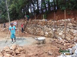 Fabuloso BIZZARRI PEDRAS: Passo a passo da construção de um muro de pedra  @RT37