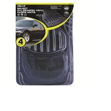 pilot automotive all season 4 pc rubber floor mat set clear