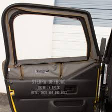 jeep wrangler white 4 door tan interior sierra offroad jeep tj wrangler 97 06 saddle sailcloth door skins
