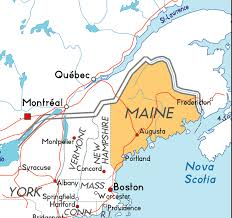 map of maine cities map of maine in the usa