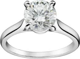 cartier engagement rings crn4163600 1895 solitaire ring platinum cartier
