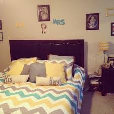 yellow gray teal chevron bedroom flores house new house