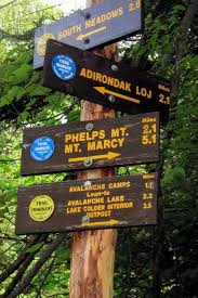 Interior Signs Trail Back In Time Algonquin Peak Via Avalanche Pass