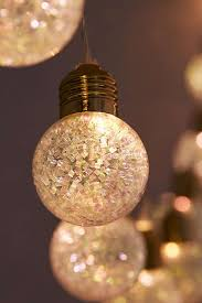 Bulb String Lights Glitter Globe String Lights Urban Outfitters