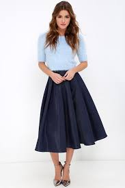 midi skirt navy blue skirt midi skirt high waisted skirt 62 00