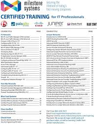 certified training for it professionals pdf