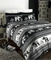 black patterned duvet covers empire elephant animal print king bed duvet quilt cover bedding set black black patterned duvet covers