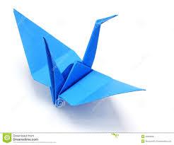 blue origami crane royalty free stock image image 3318986