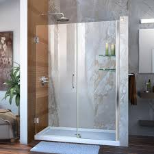 Shower Doors Reviews Dreamline Unidoor 51 To 52 In X 72 In Frameless Hinged Pivot