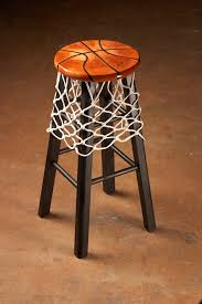 Sports Decorations Add A Basketball Net To Your Kitchen Stools And Decorate The Seat