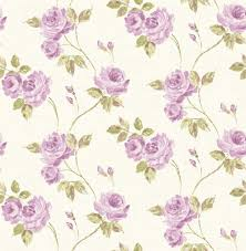wallpaper floral cream purple rasch textil maison chic 022042
