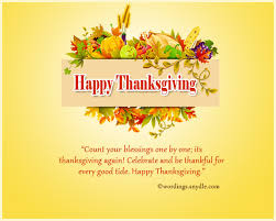 thanksgiving day message festival collections