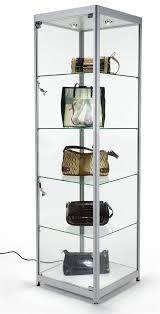 amazon com tempered glass curio cabinet with 6 halogen lights