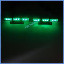 blue white green yellow 2x9 led strobe flash warning