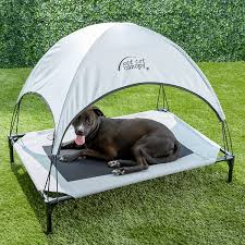 Pet Canopy Bed K H Pet Products Pet Cot Canopy Gray Large Chewy