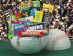 candy basket delivery baseball gift baskets by candy baskets