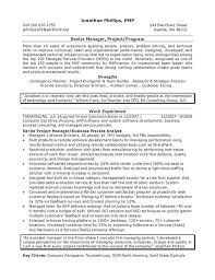 sample business project manager resume best trades templates