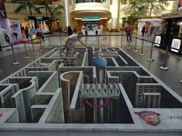 3d paiting on street paintings floor youtube throughout amazing