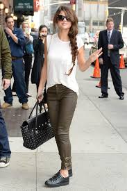 selena gomez casual selena gomez style casual late with david