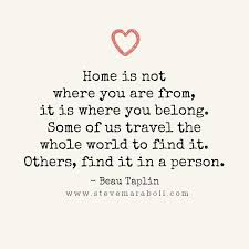home is not where you are from it is where you belong some of us