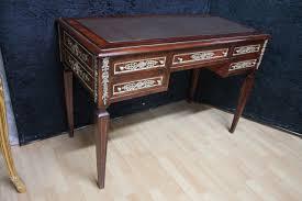 scrivanie stile antico scrivania barocco stile antico bureau plat mksr0044 skai marrone scuro