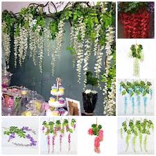wedding backdrop greenery floating pearls wisteria hanging flowers macrame wedding backdrops