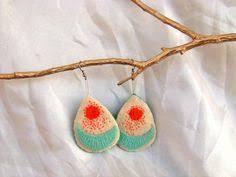 felt earrings felt earrings yellow felt earrings felt wool felted