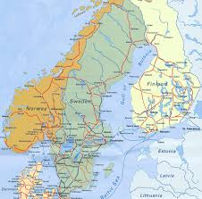 map of europe scandinavia maps of baltic and scandinavia detailed political relief road