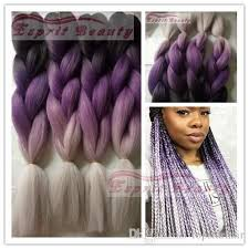 grey and purple combined together style box breads new black purple grey 3t ombre jumbo box braids 5packs 24 synthetic
