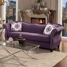 Lavender Living Room Sofa Sm2233 In Lavender Fabric W Options