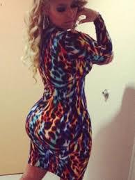 wild animal skin print dress