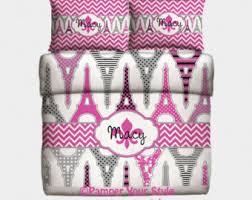 Personalized Comforter Set Monogrammed Bedding Etsy