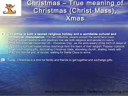 day 25th of december true meaning of merry chr