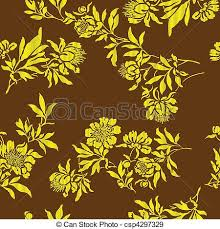 gold ornaments gold floral designs on the brown background eps