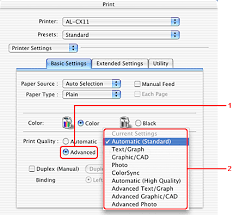 making changes to printer settings